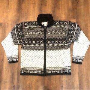Norm Thompson Nordic Cardigan Merino Sweater Sz M